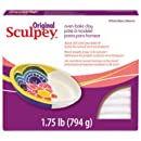 Polyform Sculpey Original Polymer Clay, 1.75-Pound, White
