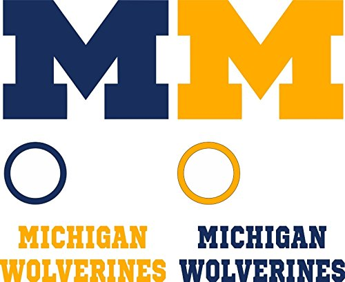 Michigan Wolverines Cornhole Decal Set - 6 Cornhole Decals Free - Michigan Wolverines Decal