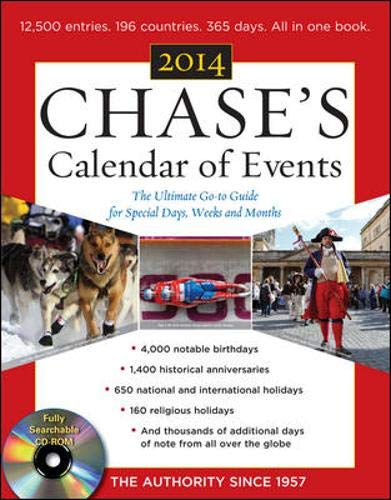 Chase's Calendar of Events 2014 with CD-ROM (Calendar For The Month Of December 2014)
