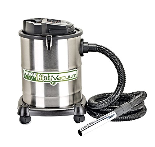 PowerSmith PAVC102 10 Amp 4 Gallon Ash Vacuum with 2 Ash Filters, Silver