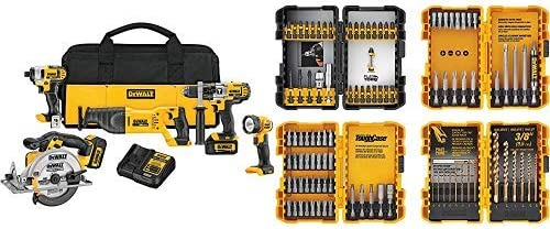 Perceuse Pilotes PORTER CABLE 20 V Max Lithium Ion Batteries Kit Fix Outil Set