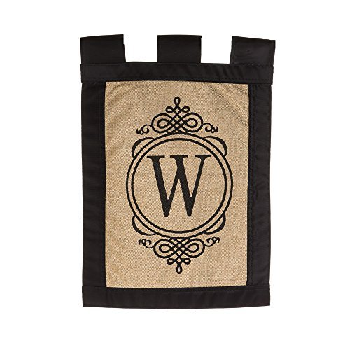 """Evergreen """"W"""" Monogram Double-Sided Burlap Garden Flag for sale  Delivered anywhere in USA"""