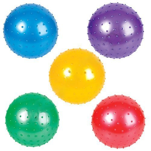 7 Inch Knobby Balls, Assorted Colors (12 Pack)