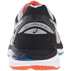 ASICS Men's Gel-Cumulus 18 Running Shoe, White/Silver/Black, 13 M US