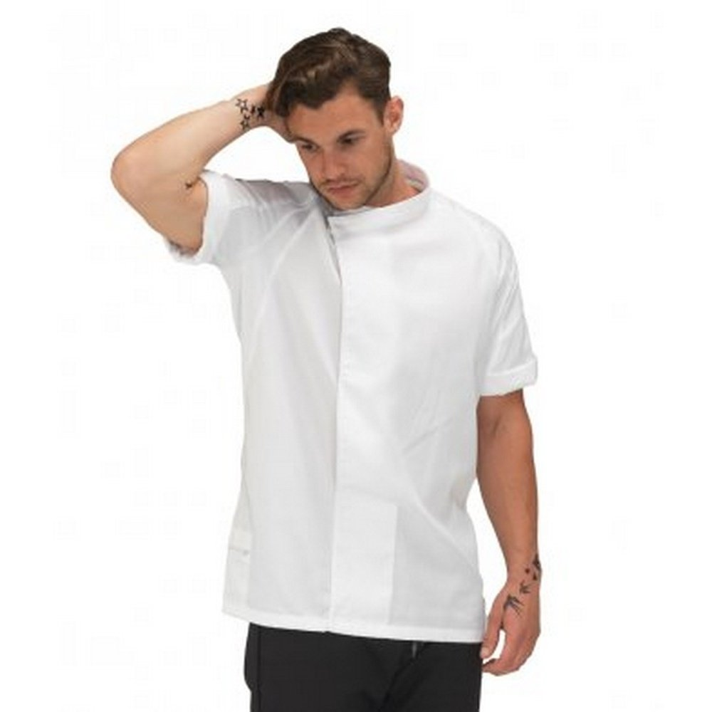 Le Chef Unisex Staycool and Lite Short Sleeve Tunic (XS) (White/White) by Le Chef