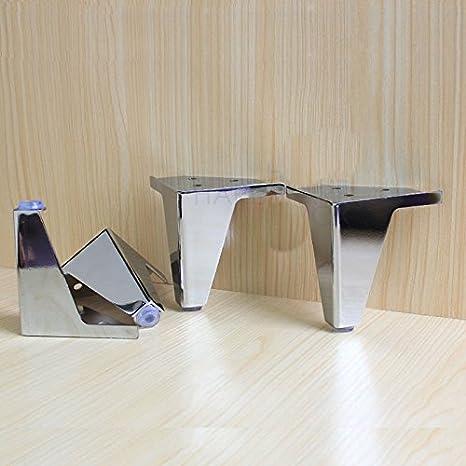 Amazon Com 4 Pcs Furniture Cabinet Metal Legs Corner Feet Stainless