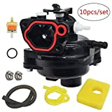 Moshbu 593261 Carburetor Replacement for Briggs and Stratton 300E 450E 08P502 8P502 Trimmer 4-Cycle Carb Vertical Engines Kit Include Air Filter+Fuel Filter+tubing
