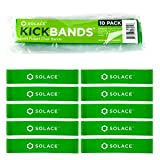 Kick Bands Bouncy Chair Fidget Bands (10-Pack) - Improves Focus For School Kids and Classroom Students - ADHD ADD SPD Autism Sensory Needs - Bounce & Stretch Foot Band For Chairs by Solace