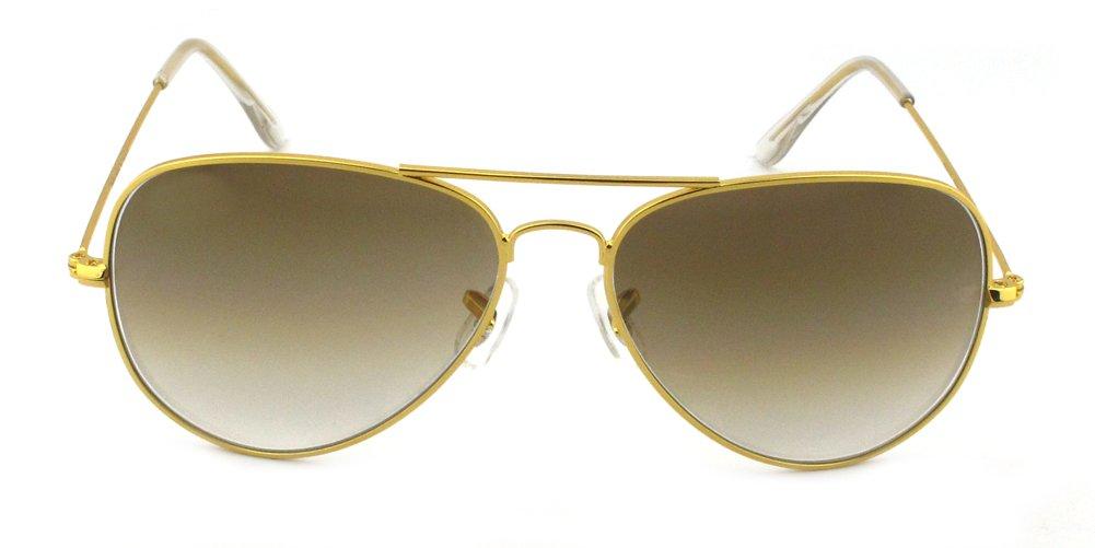 Galleon - Outray Men s Or Women s Aviator Sunglasses BT10 Gold Coffee ec89edead3