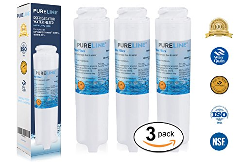 GE GSWF Fast Flow Compatible Water Filter Replacement For GE GSWF Refrigerator Water Filter By Pure Line (3 PACK)