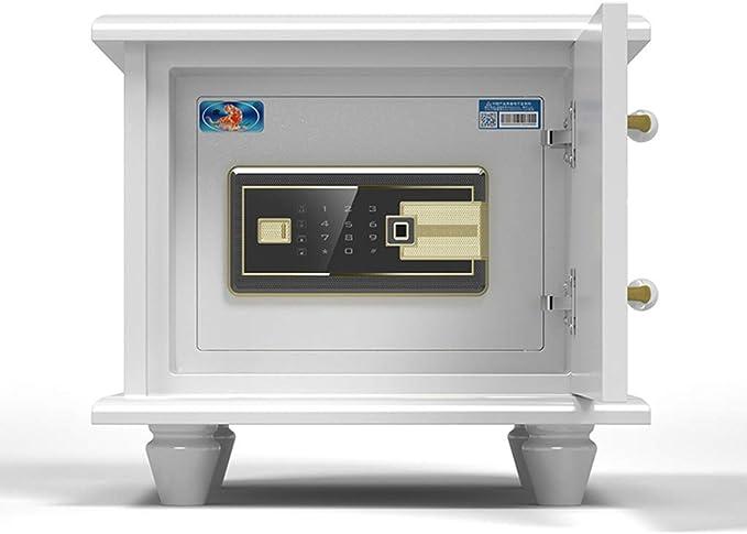 Caja de Seguridad para el hogar Caja Fuerte pequeña Caja Fuerte Oculta Caja de TV Caja Fuerte Caja Fuerte antirrobo Inteligente, diseño de Estilo Europeo (Color : Blanco, Size : 42 *