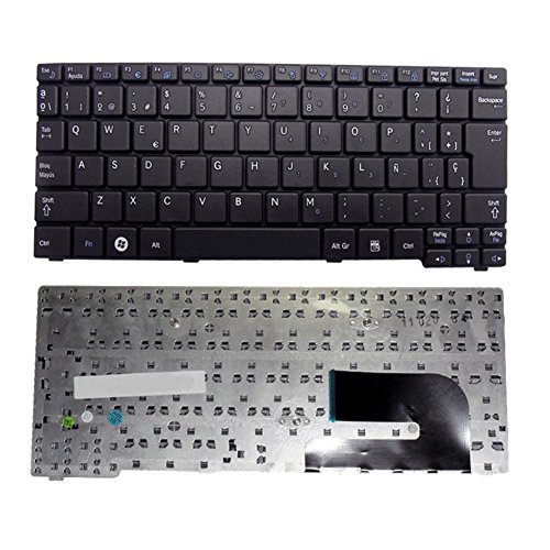Replacement Keyboard for Samsung N148 N150 NB20 NB30 N128 N145 NP-N145 Series Keyboard Spanish Black - Teclado en Español N148 by NoviPartsLaptop