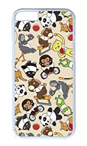 MOKSHOP Adorable Furball Olympics Hard Case Protective Shell Cell Phone Cover For Apple Iphone 6 Plus (5.5 Inch) - PC White