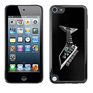 LECELL -- Funda protectora / Cubierta / Piel For Apple iPod Touch 5 -- Metal Guitar --