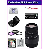 Sigma DG Macro Telephoto Zoom Lens70-300mm f/4-5.6 For The Canon Rebel XS, XSi and T1i With Super Saver Accessory Package Kit