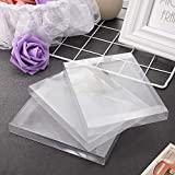 100 Packs Clear Plastic Crystal Boxes Transparent