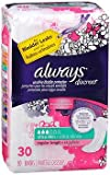 Always Discreet Bladder Protection Ultra Thin Liners Regular Length - 3pks of 30, Pack of 6