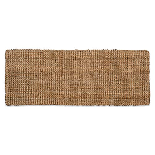 (Neutral Eco-Friendly Sturdy Rolled Natural Indoor/Outdoor Jute Rug, 22x60