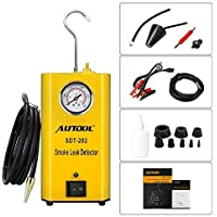 AUTOOL SDT-202 EVAP Leak Detector, 12V Automotive Fuel Leak Detector Car Pipe Leak Locator Machine Support Pipe Systems/Motorcycle/Cars/SUVs/Boat with Pressure Gauge