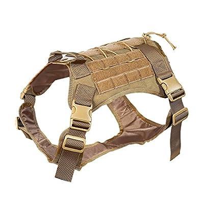 Feliscanis Tactical Dog Training Vest Harness Adjustable Service Dog Vest