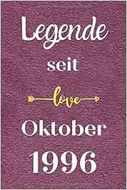 Legende seit Oktober 1996: Notizbuch a5 liniert softcover geburtstag geschenkideen frauen Männer, Geburtstagsgeschenk für Bruder Schwester Freunde kollege, geburtstag 24 jahre
