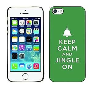 Be Good Phone Accessory // Dura Cáscara cubierta Protectora Caso Carcasa Funda de Protección para Apple Iphone 5 / 5S // Keep Jingle On Bells Christmas Green