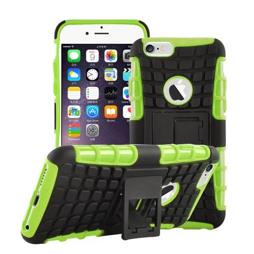 Apple iPhone 6 / 6S Outdoor Handy Tasche Grün Hybrid Case Schutz Hülle Panzer TPU Silikon Hard Cover Bumper I betterfon