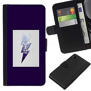 WINCASE (No Para Z2 Compact) Cuadro Funda Voltear Cuero Ranura Tarjetas TPU Carcasas Protectora Cover Case Para Sony Xperia Z2 D6502 - líneas arte vibrante colorido