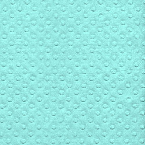 Aqua Minky Bubble Plush Fleece Fabric