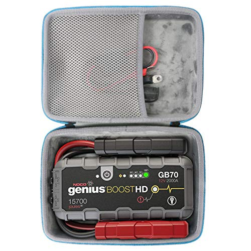 Baval Hard Case Compatible with Noco Genius Boost HD GB70 2000 Amp 12V UltraSafe Lithium Jump Starter