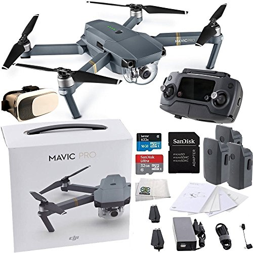 DJI Mavic Pro Collapsible Quadcopter Virtual Reality Experience VR Ultimate Bundle