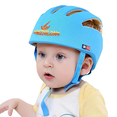 Finebaby Baby Protective Safe Cap for Learning to Crawl/Walk/Play Infants Anti-shock Hat Kids Boys Girls Safety Helmet with Adjustable Strap