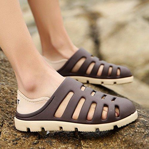 Das neue Sommer Strand Schuh Männer Atmungsaktiv Hohl Ultra-Licht Männer Sandalen Loch Schuh ,grau,US=6.5,UK=6,EU=39 1/3,CN=39