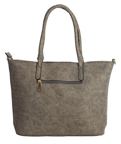 Shop Womens Leather 6 Size Handle Design Big Handbag Shopper Black Tote Shoulder Bag Vegan Top Large FqUx5HCw