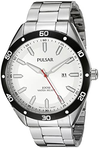 Pulsar Men s PH9093X Every Day Value Analog Display Japanese Quartz Silver Watch