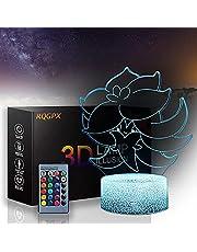 3D Magic Lantern 3D Nachtlampje Gift Sport, Battle, Cartoon, Leuke 16-kleuren kleurveranderende decoratieve verlichting - Het perfecte cadeau voor kinderen en kamerdecoratie