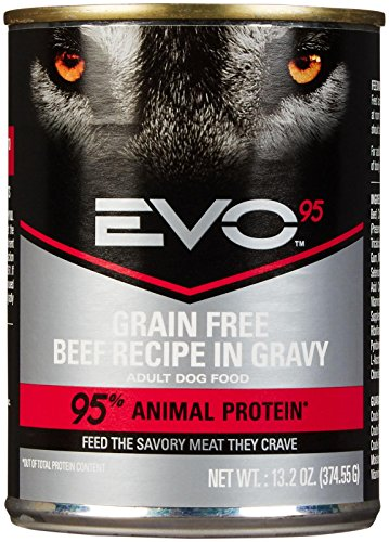 EVO 95% 13.2-oz Beef Canned Dog Food (Case of 12), One Size