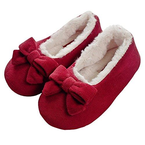 Girls' Classic Princess Style Velvet Memory Foam House Slippers