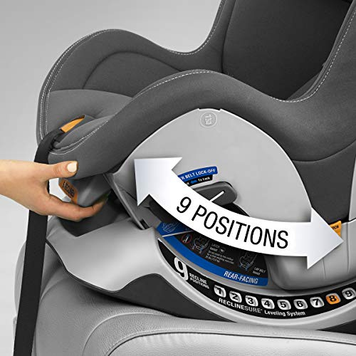 51AH1IVMwGL - Chicco NextFit Sport Convertible Car Seat, Black