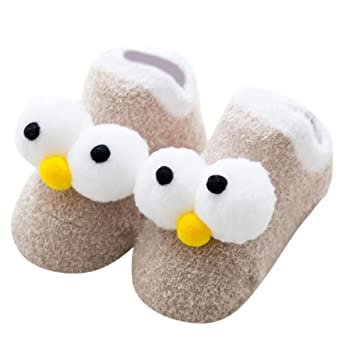 1Pairs Cotton Cartoon Fluffy Long Eyes Socks Newborn Toddler Kid Warm Sock US