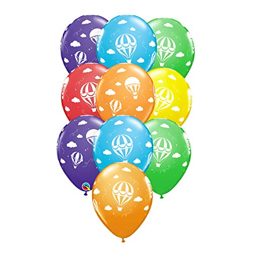 Set of 10 Multicolored Hot Air Balloon Design 11