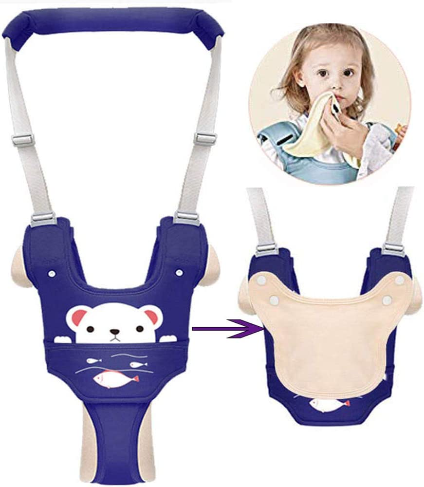 Autbye Handheld Baby Walker Toddler Walking Assistant with Detachable Crotch /& Burp Cloth Walking Learning Leash Kids Safety Belt for Baby 6-36 Months Green