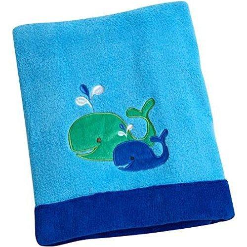 Baby Blanket Boy Applique Coral Fleece