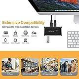 USB Switcher Box 2 Computers Sharing 4 USB