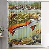 Fly Fishing Shower Curtain Brad Staplesz Unisex Womens Man Brook Trout Fly Fishing Theme Stylish Bathroom Shower Curtain Decoration