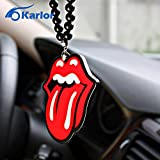 CALAP-STORE - Rolling Stones Big Tongue Rock Car Auto Fashion Pendant Logo Interior Mirror Ornament Hanging Dangle Charm Acrylic Car-Styling