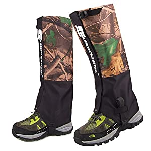 Amhii Camouflage Shoe Gaiters Nylon Leggings Cover Ultra light Portable High Gaiters for Snowshoe