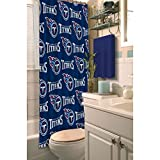 1pc Navy Blue NFL Tennessee Titans Football Sports Themed Shower Curtain, Official Colorful Team Logo Printed, True Color, All Seasons, Polyester Detailed Sports Pattern, Modern Elegant Design