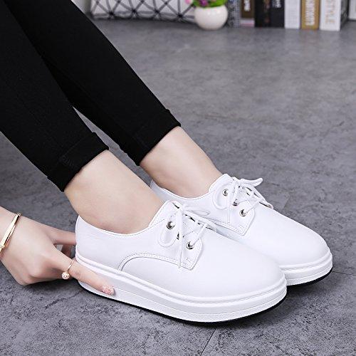 GTVERNH Damenschuhe/Sommer/Damenschuhe Schuhe Witze Freizeit Einzelne Schuhe Damenschuhe/Sommer/Damenschuhe Sommer - Kleine Weiße Schuhe Weiß daed4d