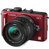 Panasonic Lumix DMC-GF1 12.1MP Micro Four-Thirds Interchangeable Lens Digital Camera with 14-45mm Lens (Red)